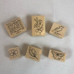 Stampin'up 2004 Natural Beauty Set of 6 Stamps